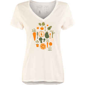 Patagonia Harvest Haul Organic V-Neck T-Shirt Women White